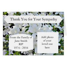 bereavement thank you cards bereavement thank you notes for cards flowers and attending the