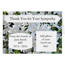 sympathy thank you cards sympathy thank you cards unique photographic cards plus sle