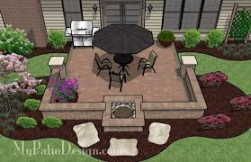 Simple Patio Design Diy Square Patio Design With Seat Wall And Pit 320 Sq Ft
