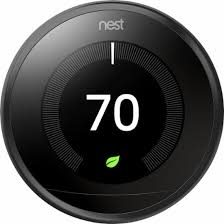 nest home depot black friday nest learning thermostat 3rd generation black t3016us best buy