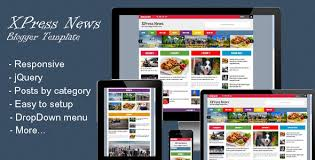 download xpress news responsive blogger magazine template free