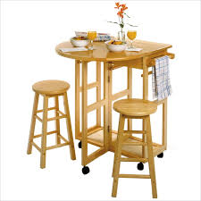 Drop Leaf Breakfast Table Drop Leaf Breakfast Bar With Two Stools 89332 Winsome