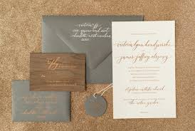 carlton wedding invitations rustic boho wood and copper foil wedding invitations