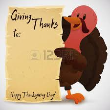 greeting card with blank space to give thanks in the scroll and