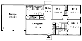 ranch house floor plan ranch house plan 3 bedrooms 2 bath 1400 sq ft plan 46 600
