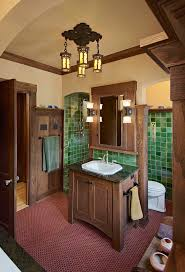 tuscan style furniture bathroom craftsman with wall sconces custom