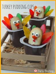 thanksgiving cups turkey pudding cups party pinching