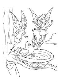 fairy fawn and tinkerbell coloring page kids coloring book