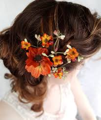 wedding flowers in hair flowers in hair for fall wedding the knot