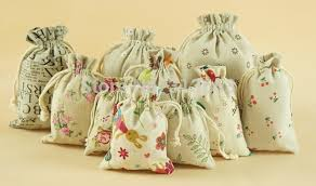 tea bag party favors 9x15cm jute drawstring bags party favor souvenir storage bag for