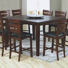 country style dining room decor with lazy susan high top kitchen