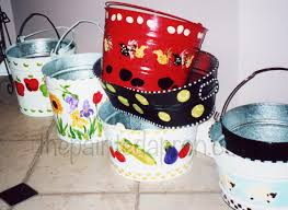 painted easter buckets creations shrimp the painted apron