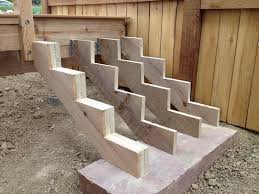 Corner Deck Stairs Design Deck Stairs Uneven Ground Deck Design And Ideas