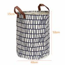 Canvas Laundry Hamper by Favorable Leather Canvas Storage Basket Bin Toy Clothing Organizer