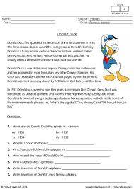 primaryleap co uk reading comprehension donald duck worksheet