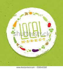 farm to table concept local food market farm table creative stock vector 258040100