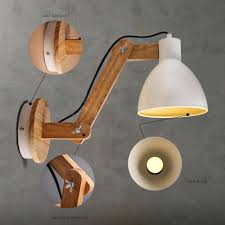 Decorative Wall Lights For Homes by Fashion Wood Handcrafted Swing Arm Light Sconce Led Wall Lamp