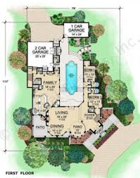 courtyard floor plans the venetian courtyard house plan luxury home blueprints