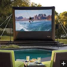 outdoor projector screen what could be better than