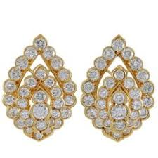 on earrings diamond pearl and antique clip on earrings 3 050 for sale at