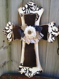 home decor crosses ivory and black embellished stacked cross home decor ivory cross