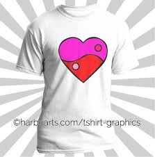 yang heart t shirt design