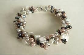 pink pearls bracelet images Pink purple lilac pearls JPG