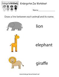 zoo worksheet free kindergarten learning worksheet for kids