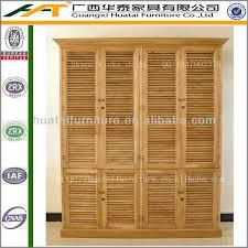 Wood Armoire Wardrobe Shutter Double Armoire Wardrobe Furniture Oak Solid Wood Wardrobe