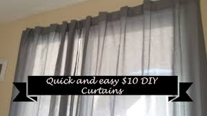 Make Curtains Out Of Sheets How To Make Quick And Easy Diy Curtains For 10 Youtube