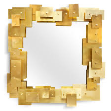 gold unique design of the modern and luxury mirrormodern and