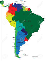 south america map aruba south america political map royalty free cliparts vectors and