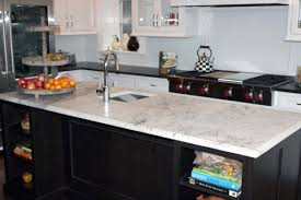 Kitchen Island With Black Granite Top Orion Granite Kitchen Countertop With Cristallo Quartzite Kitchen