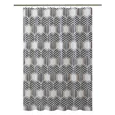 bliss hexagon shower curtain