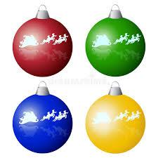 tree balls stock vector illustration of santa 35022511