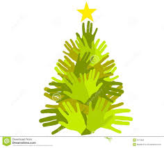 christmas tree giving hands royalty free stock images image 3473269