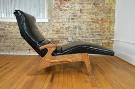 Diy Chaise Lounge Chaise Mid Century Modern Leather Adjustable Chaise Lounge Wood