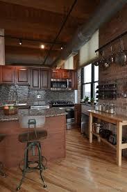 Exposed Brick Apartments Chicago West Loop Vintage Loft Kitchen Love The Brick U0026 Timber I