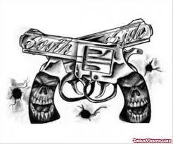 skull handles gun tattoos designs viewer com