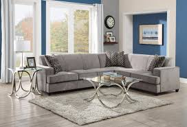L Shaped Sofa With Chaise Lounge Grey Velvet Sectional Sofa Sofas