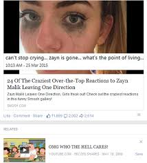 Zayn Malik Memes - facebook knows how to react to zayn malik leaving one direction