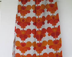 Retro Kitchen Curtains 1950s by Retro Kitchen Curtains Etsy