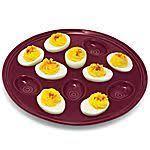 fiestaware egg plate homer laughlin china cinnabar contemporary deviled egg