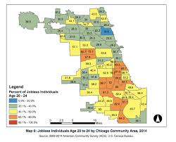 Us Map Chicago by Report Nearly Half The Black Men In Chicago Out Of Work