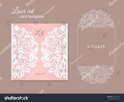 Wedding Invitation Card Templates Laser Cut Invitation Card Template Wedding Stock Vector 569348743