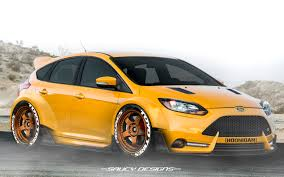 ford focus st widebody modded photoshop render personal car