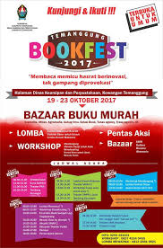 Wardah Okt mari kunjungi temanggung bookfest 2017 seputar temanggung