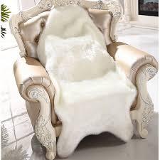 Washable Sheepskin Rug Aliexpress Com Buy Artificial Sheepskin Fluffy Fur Chair Seat