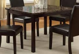 marble dining room sets amazon com pompei dining table with faux marble top tables