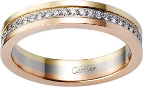 wedding bands white gold crb4052900 de cartier wedding band white gold yellow